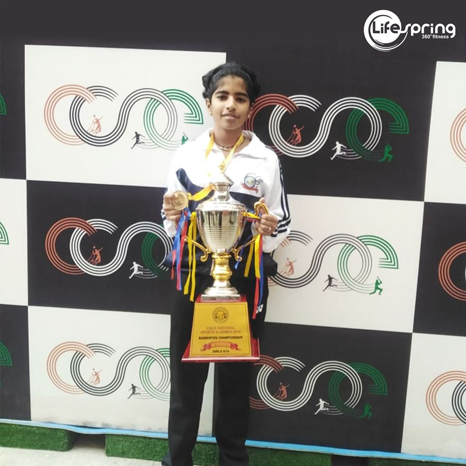 Anoushka's achievement in National CISCE School Games & Sports Badminton Doubles Tournament