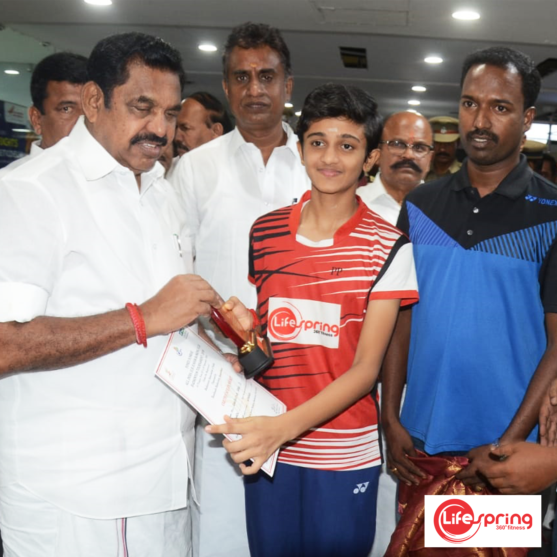 Winner of All India Sub Junior (U-13) Girls Singles